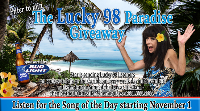 The Lucky98 Paradise Giveaway