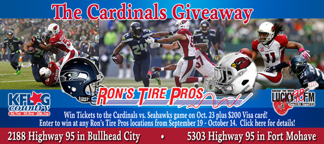 The Cardinals Giveaway from Ron's Tire Pros and Lucky98FM