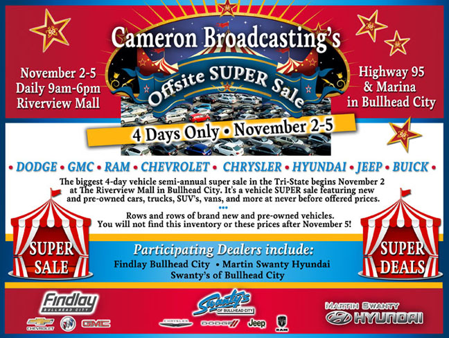 Cameron Broadcasting's Offsite Super Sale